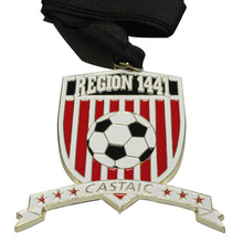 Best selling football competition medals new custom metal commemorative medal