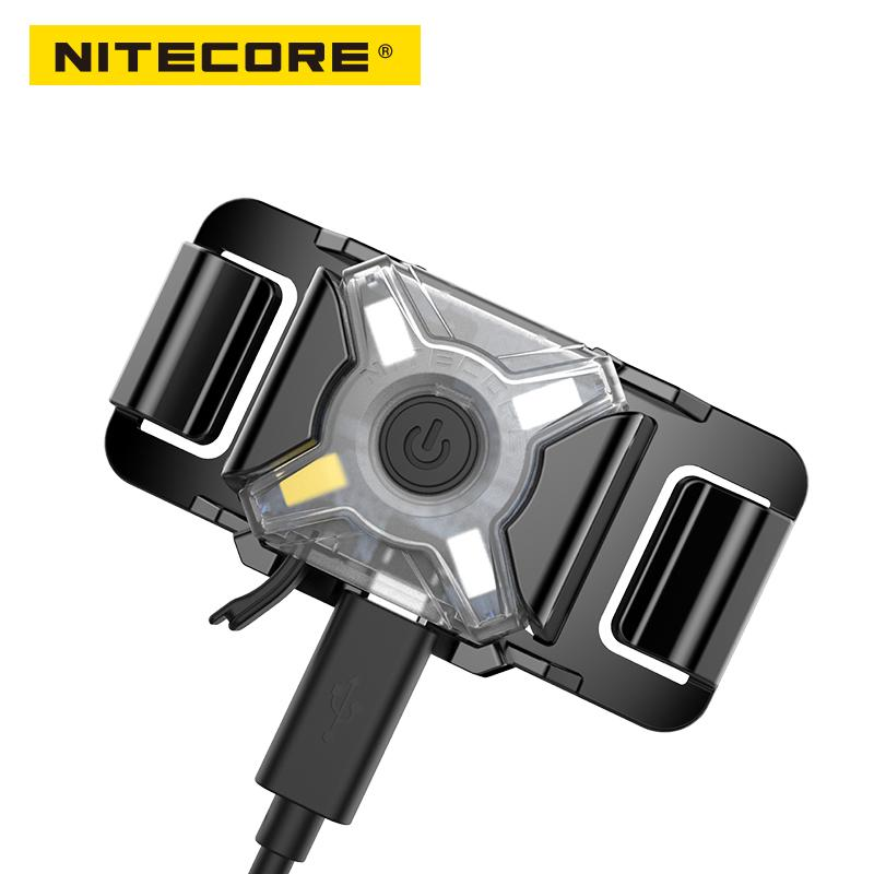 Nitecore NU05 LE Red Green Blue White 4x LEDs Build-in Li-Ion Battery USB Cable Rechargeable Mini Signal Headlamp