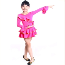 children latin dress autumn and winter child dance ballet leotard femal dance dress latin dance wear