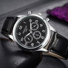 Fedylon 2016 Fashion Mens Watches Famous Brand Luxury Business Watch Men Women Leather Band Quartz Watches Relogio Masculino