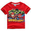 short sleeve children t shirts, boys girls t shirt kids wear avengers2 ultron blue clothes hulk iron man thor captain American