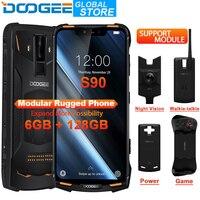 DOOGEE S90 модульный телефон IP68 мобильный телефон 6,18 дюймов FHD дисплей 5050 мАч Helio P60 Восьмиядерный 6 ГБ 128 ГБ Android 8,1 16,0 M камера