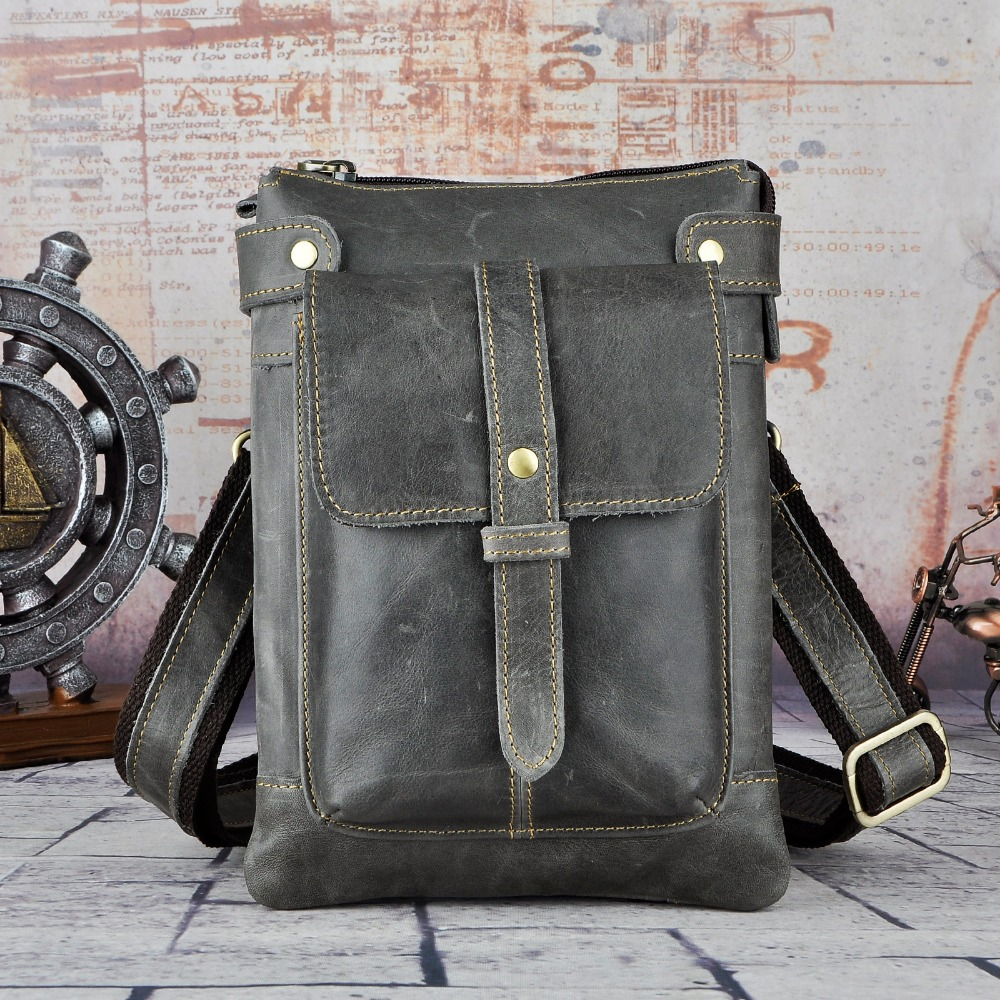 Leather Men Multifunction Designer Casual Mochila Shoulder Messenger Bag Fashion Belt Waist Pack Bag Phone Tablets Case 8711-g