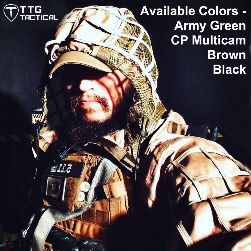 Tactique Viper Hood tactique Sniper Ghillie costume léger Airsoft Paintball Ghillie veste 4 couleurs CP Multicam armée vert