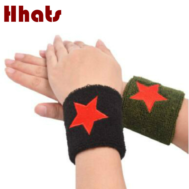 Which In Shower Embroidery Red Star Sports Arm Warmers Men Sports Towel Wristbands Women Wrist Sweat Band Fitness Run Wristband