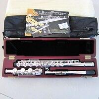 Серебро трубки 925 отлично флейта клавишу C 17 открыть новые 17 открытые отверстия C флейта + E ключевые серебро покрытием тела
