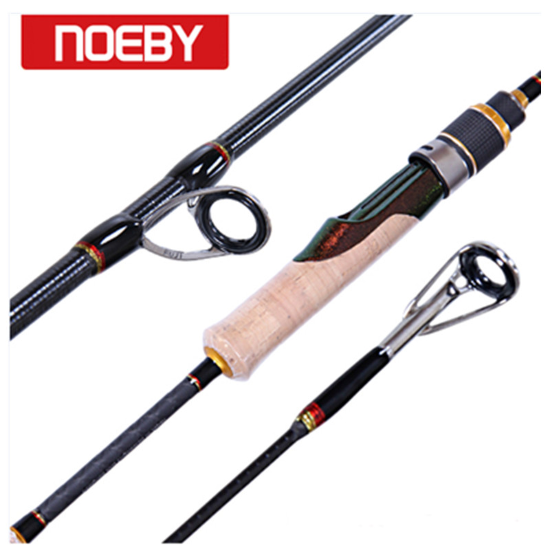 NOEBY Fishing Rods Carbon 1.98m 2section M/ML Spinning Rod Varas De Pesca Para Carpe Fishing Canne Peche Fish Stand Pole Handel fish hunter road asian pole lightning rod grips quake 2 2 m mh tune fishing rods lrtc3 762mh