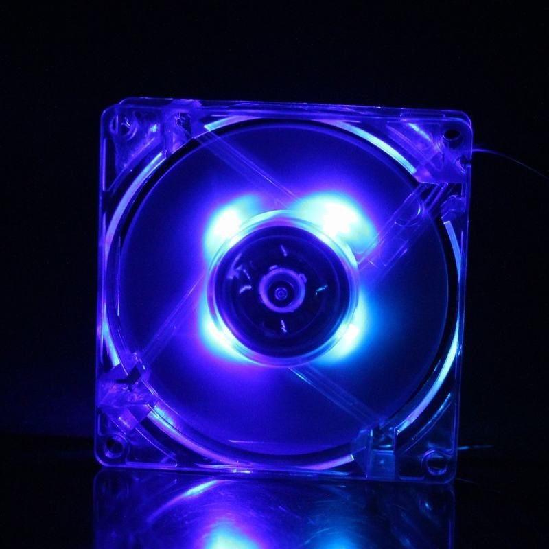 5 шт./лот GDT 12025 12 В 4 P DC синий свет 120 мм 12 см 120 мм x 120 мм x 25 мм PC Comptuer процессор для светодиодных экранов Вентилятор охлаждения