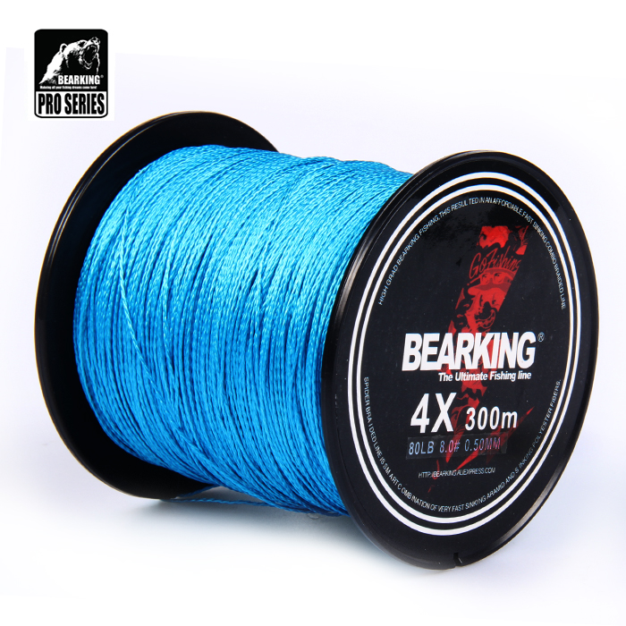 Great Discount!! hot Bearking  300m 10LB - 80LB Braided Fishing Line PE Strong Multifilament Fishing Line Carp Fishing Saltwater dagezi super strong 4 strand 300m 330yds 100% pe braided fishing line 10 80lb multifilament fishing line carp fishing saltwater