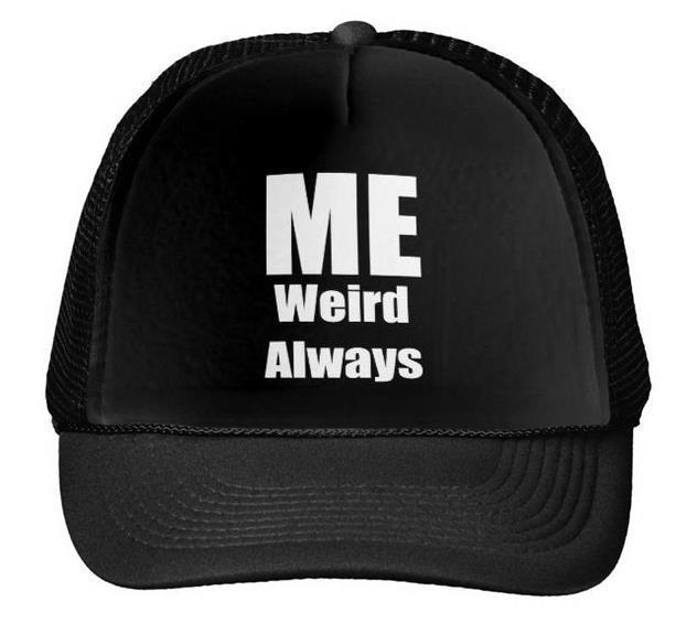 f82a283eab3 ME WEIRD ALWAYS Letters Print Baseball Cap Trucker Hat For Women Men Unisex  Mesh Adjustable Size