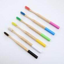 Bambu diş fırçası fabrika toptan doğal düşük karbonlu çevre yumuşak saç fırçası ağız bakımı olabilir özel LOGO