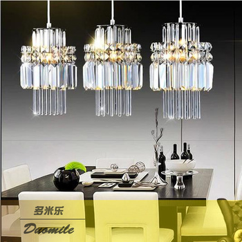 Modern Simple Western Dining Lights Fashion Cafe Dining Room Lights Beauty and Hair Triple Crystal Bar LM5211124