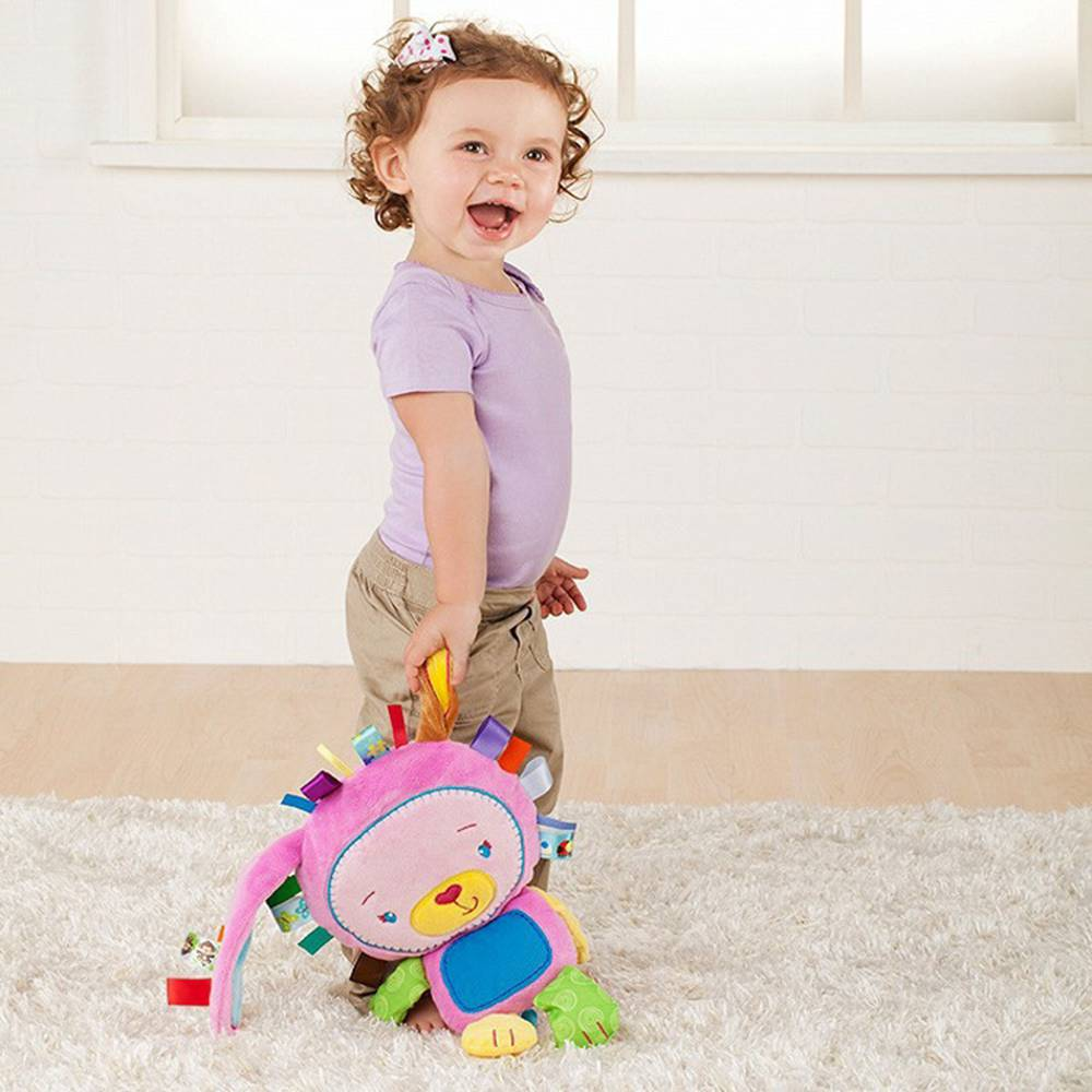 Toys For Baby Cute Animal Rattle Plush Pacify Doll Baby Hand Bell Educational Toy Mobiles Ring Bell For Girls Boys in Baby Rattles Mobiles from Toys Hobbies