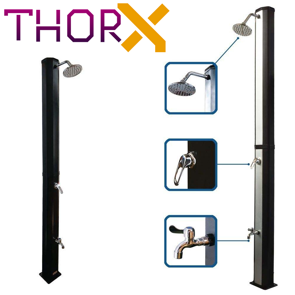 Solar Shower ThorX TR35OX - Silver Garden Shower 35 L No Need Electricity Easy To Install
