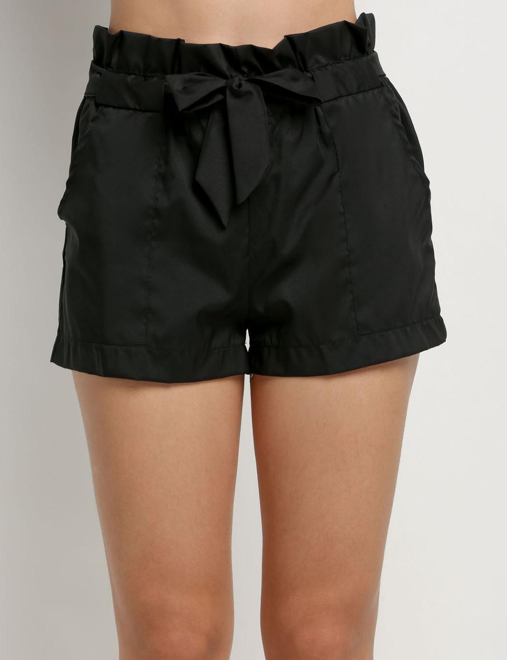 HTB1s7QLNFXXXXX4XFXXq6xXFXXXB - High Waist Shorts Loose Shorts With Belt Woman PTC 59
