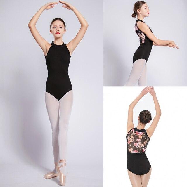 Gymnastics Leotard Women 2018 New High-Necked Net Dance Costume Girls Ballet  Dancing Wear High 67e27d511