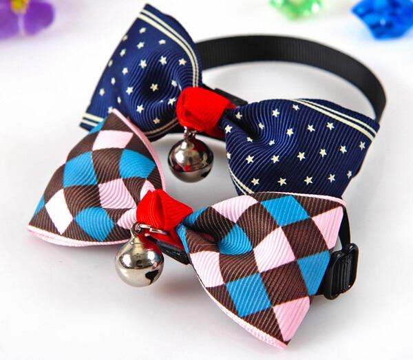 1 unids los mascotas pajaritas accesorios perrito bowknot ties con de bell del p