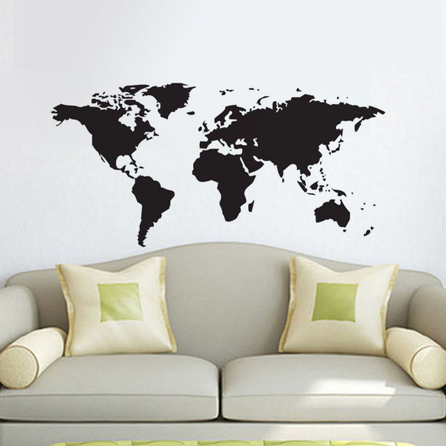 dctop world map wall stickers diy removable vinyl quote webmap wall sticker decal mural decor for