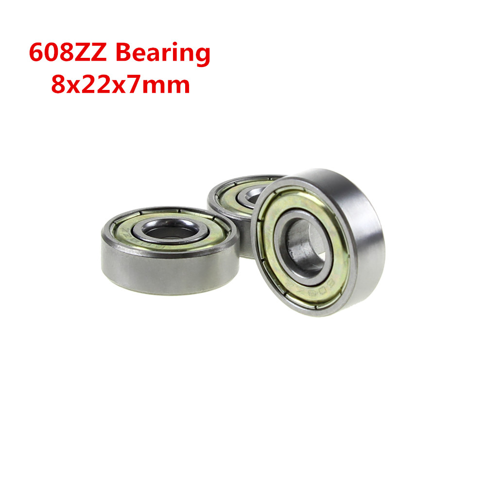 1pcs Double Shielded Miniature High-carbon Steel Single Row 608ZZ ABEC-5 Deep Groove Ball Bearing 8*22*7 8x22x7 mm 608 ZZ 2Z 80mm aperture high quality deep groove ball bearing 6216 80x140x26 ball bearing double shielded with metal shields z zz 2z