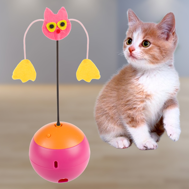 2 Colors Multifunction Electric Tumbler Pet Cat Toys Interactive Toys for Cats Laser Pet Dog Leakage Food Toys Ball Toy Products