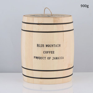 Image 5 - Coffee Beans 0ak Barrel Storage  Airtight Wooden Container For Coffee Beans or Grounds  Kitchen Box