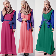 2016 Sashes Time-limited Turkish Abaya Djellaba Islamic Clothing For Women Muslim Dress Summer New Butterfly End Waist Chiffon