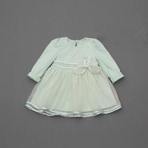 Image 2 - Detaliczna wiosna łuk koronkowa sukienka dziewczynek słodkie dziecko niemowlę koronkowa suknia balowa dziewczyna sundress księżniczka sukienka 3 kolor