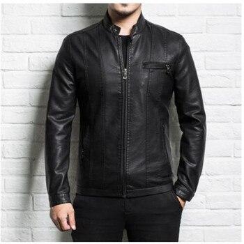 Men genuine leather jacket sheepskin 2019 new spring and autumn handsome slim zipper male motorcycle leather jacket teenager boy