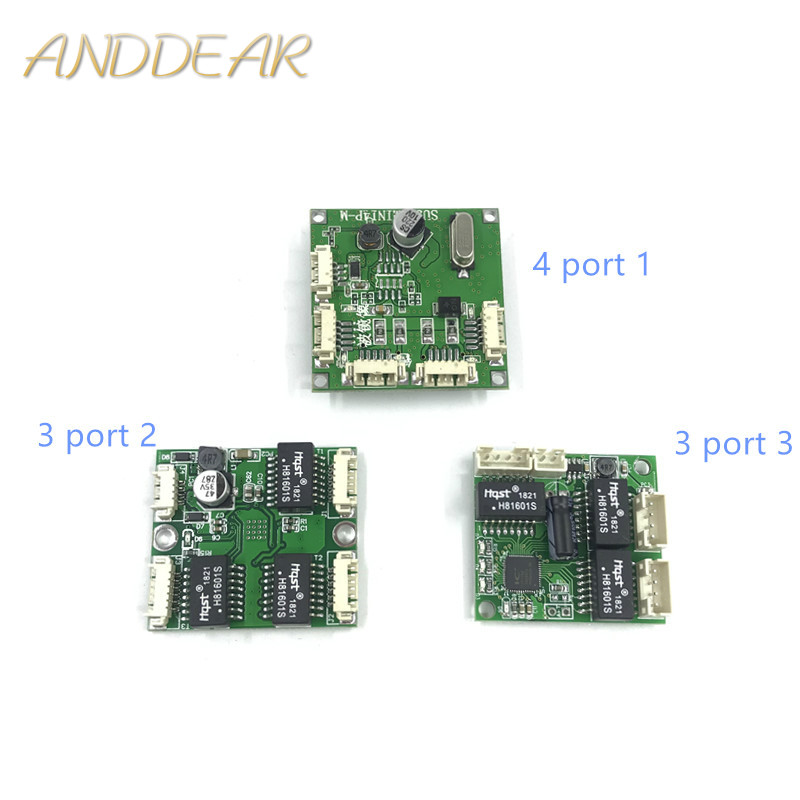 Mini PBCswitch Module PBC OEM Module Mini Size 3/4 Ports Network Switches Pcb Board Mini Ethernet Switch Module 10/100Mbps ODM