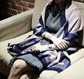 2017 новый зимний стиль известный бренд теплый толстый женщины леди Кашемир Шарфы роскошные теплый Пашмины Бахромой полосы шарф для женщин