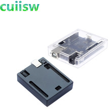 Black ABS Plastic Case Shell  Transparent Box Case Shell for arduino UNO R3 not Raspberry pi model b plus Good Quality