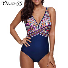 2c365aa28cf4b 2019 One Piece Swimsuit Plus Size Swimwear Women Push Up Bathing Suit  Vintage Monokini Bodysuit Beach
