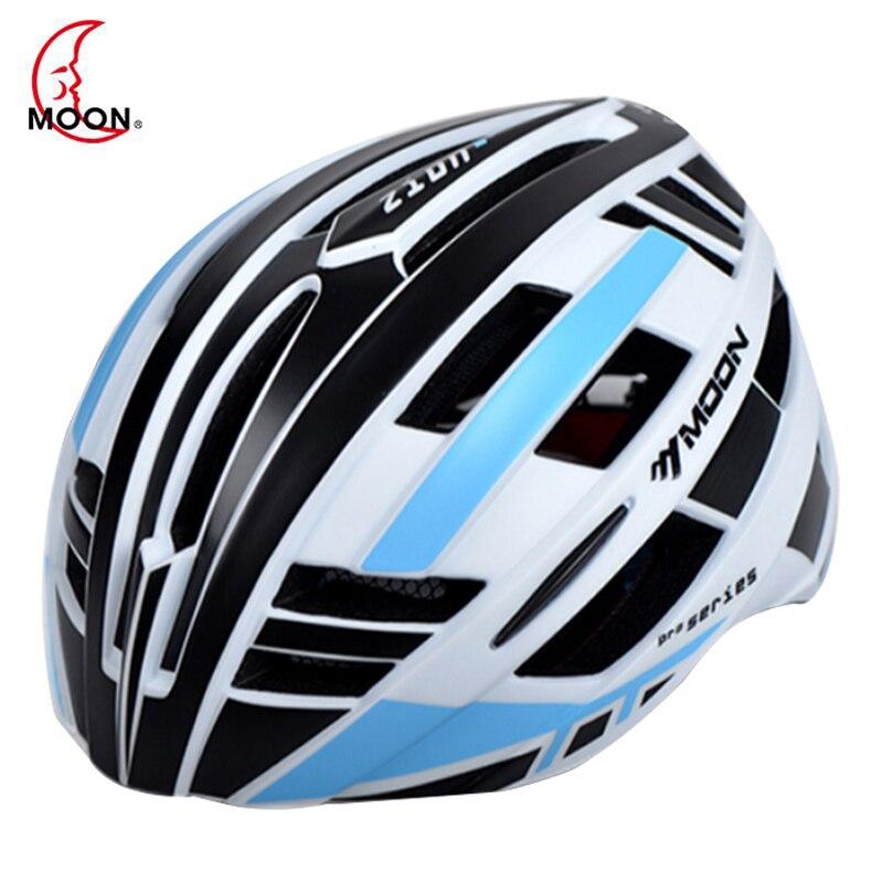 Moon Велоспорт шлем Дорога Гора in-mold Велосипедный шлем Сверхлегкий велосипед шлем со светодиодной Аварийные огни Casco Ciclismo