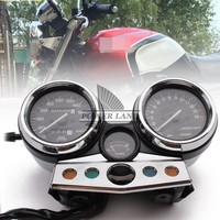 White Motorcycle Electronic Induction Type Tachometer Speedometer Odometer Gauge Kit For HONDA CB400 CB 400 Super Four 1995 1998