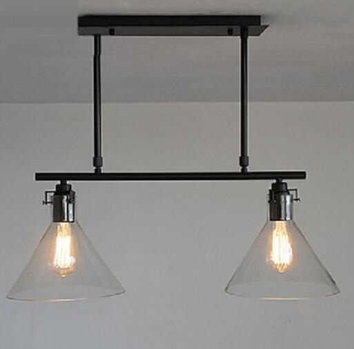 где купить North pendant light Iron glass funnel country Restaurant Bar lamp dinner creative personality bedroom minimalist moder GY335 по лучшей цене