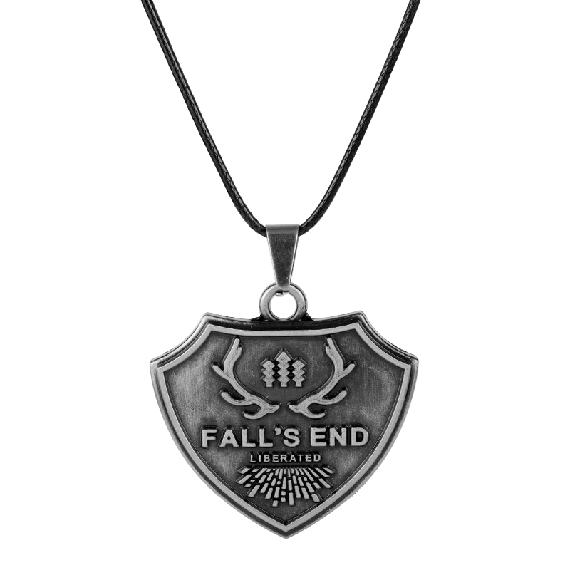 Game Jewelry Far Cry 5 PS4 Ares 4 Necklaces Fall's End Dog Tag Pendant Leather Rope Chain Choker Women Men Charm Fans Gifts image