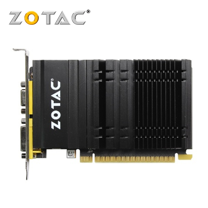 ZOTAC Video Card GeForce GT 610 1GB 64Bit GDDR3 Graphics Cards GPU Map For NVIDIA Original GT610 1GD3 Dvi VGA PCI-E