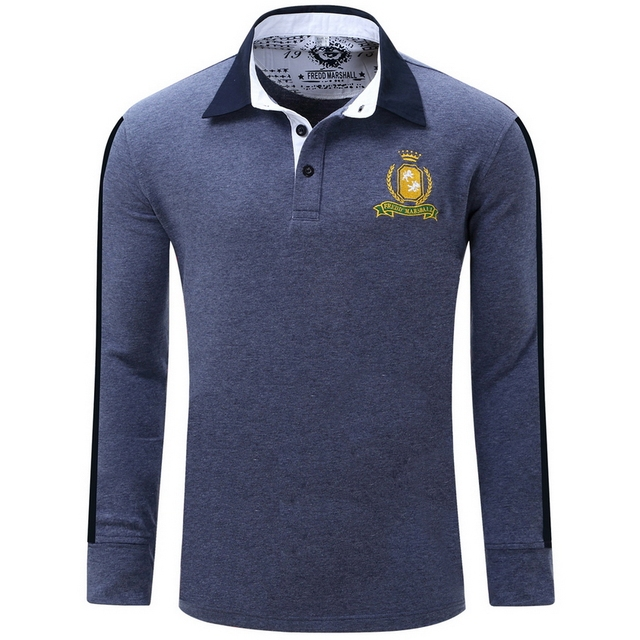 2016 New Autumn Men Long Sleeve Polo Shirts Camisa Homme 100% Cotton Shirts T0064
