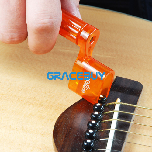 Alice Guitar String Winder 1 pcs Plastic Bridge Pin Puller Peg for Acoustic Electric Guitar amumu traditional weaving patterns cotton guitar strap for classical acoustic folk guitar guitar belt s113