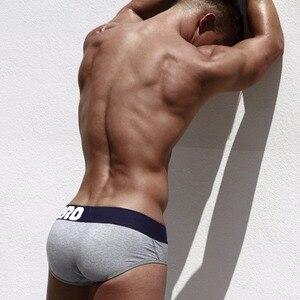 Image 5 - NEW 8pcs/lot Pink Heroes Men Briefs Underwear Cotton Solid Color Sexy Trunks Briefs Men Underpants Cuecas Gay Underwear Shorts