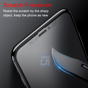 Image 4 - No Fingerprint Full Cover Matte Tempered Glass for iPhone X 8 7 6S Plus Screen Protector Frosted Glass for iPhone XS MAX XR Film