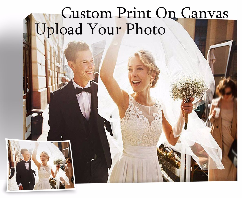 Customized Photo Prints Painting Canvas Your Photo Turn Into On Canvas Wall Pictures Home Decoration  Gift  No Frame