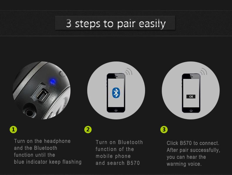 Zealot B570 Earphone Headphone with LCD Screen Bluetooth Headphone Foldable Hifi Stereo Wireless Headset FM Radio TF SD Slot 21