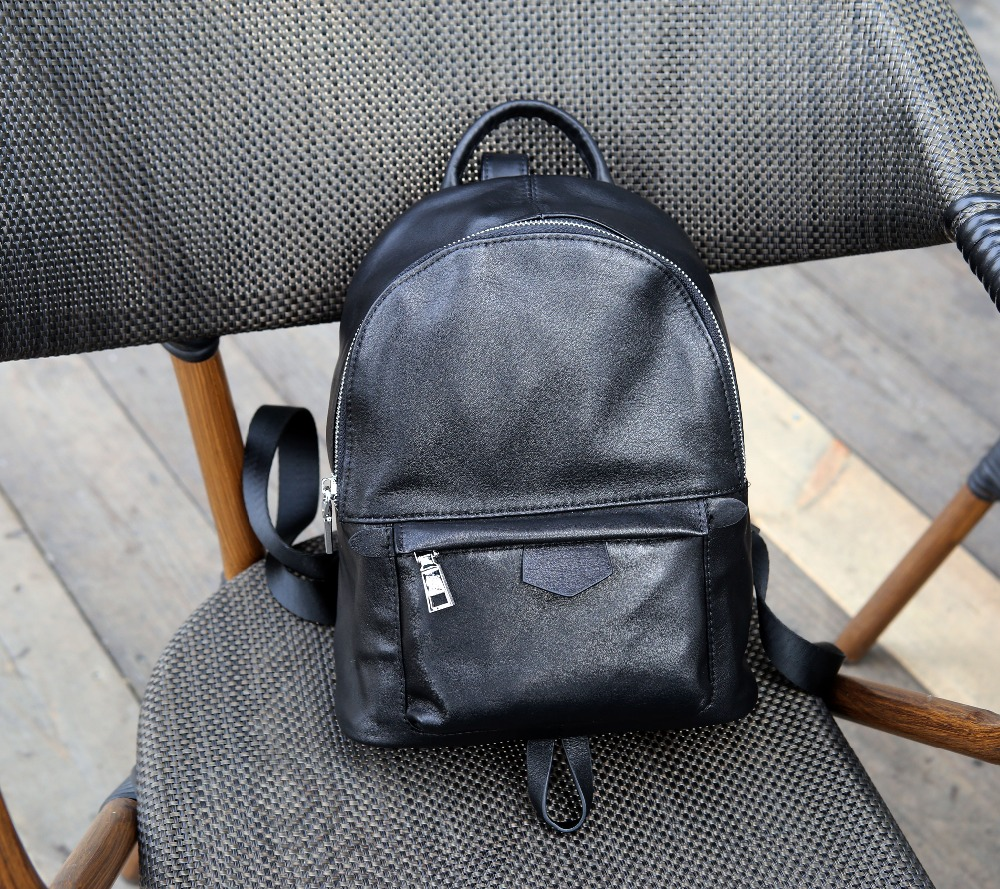 Kafunila new top quality women genuine leather 100% cowhide leather backpack ladies mini travel school bags zipper shoulder bag hot sale women s backpack the oil wax of cowhide leather backpack women casual gentlewoman small bags genuine leather school bag