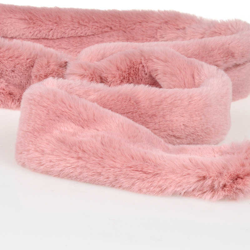 women fur coat belt length about 150cm Girls classic simple fashion soft fur accessories female belt 11 colors Nice99