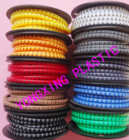 10roll/lot Cable marker EC 0 0.75mm2 colorful mark the wire and cable