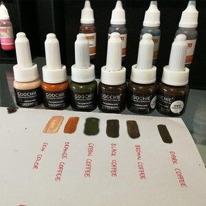 Image 5 - 1 adet GOOCHIE Microblading pigmenti kalıcı makyaj kaş dudak Pigment 6 renk dövme mürekkep kaş Pigment dövme makine mürekkebi
