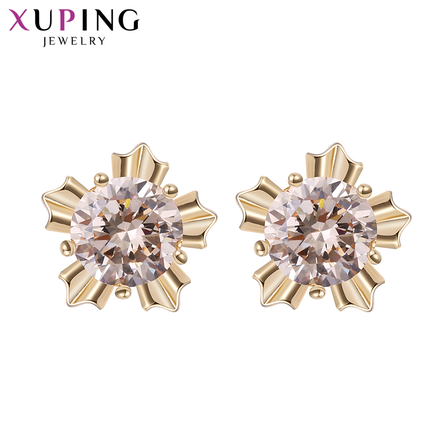 Xuping Elegant Earring New Design Gold Gold Plated Brand Fashion - Bisutería - foto 3