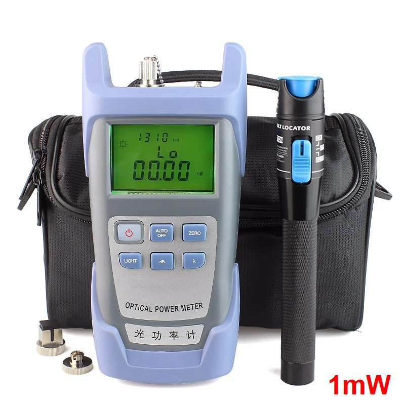 Handheld Optical Power Meter and 1mw Fiber Optic Source Visual Fault Locator,Red Source Fiber Optic Cable Tester