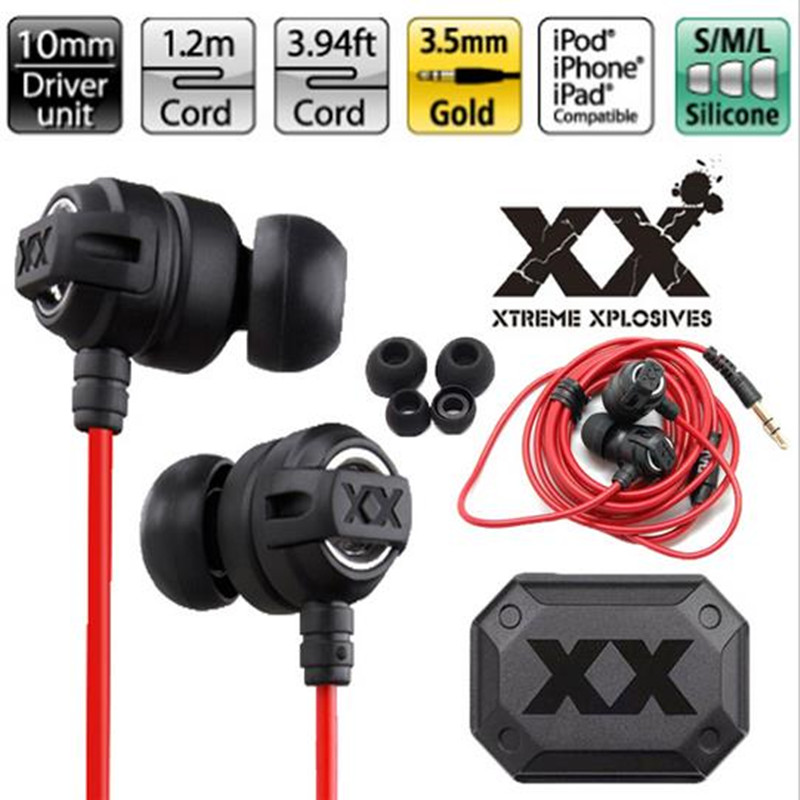 Headphones portable HA-FX1X 3.5mm Inear Earphones Clear sound Bass Headset Gaming Auriculares for Android iPhone MP3 MP4 XEDAIN